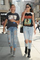 Kendall Jenner in Ripped Jeans – Out in New York City - July 2014