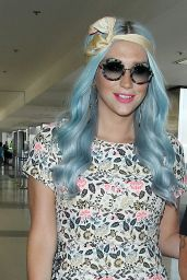 Kesha at LAX Airport in Los Angeles - July 2014