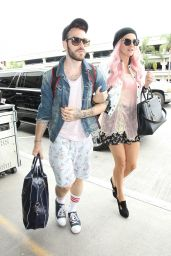 Kesha at LAX Airport in Los Angeles - June 2014