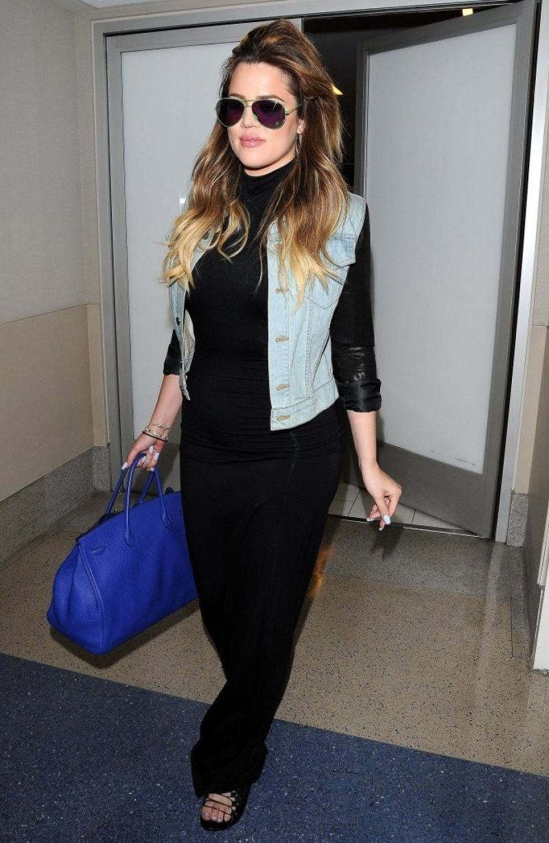 Khloe Kardashian at LAX Airport - July 2014