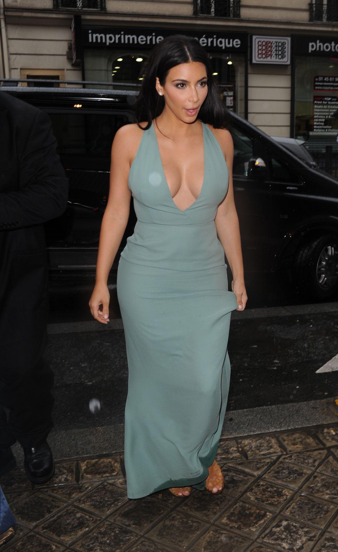 Kim Kardashian Valentino Haute Couture Fashion Show During Paris Fashion Week July 2014