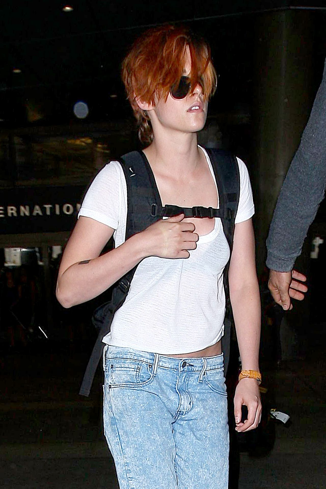 Kristen Stewart at LAX Airport - July 2014