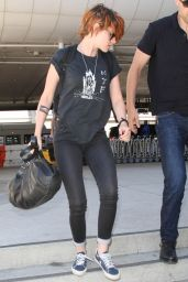 Kristen Stewart at LAX Airport - Leaving for Tokyo - July 2014