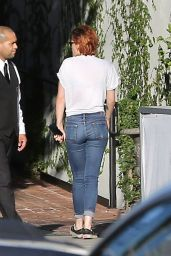 Kristen Stewart in Jeans - Out in LA, July 2014