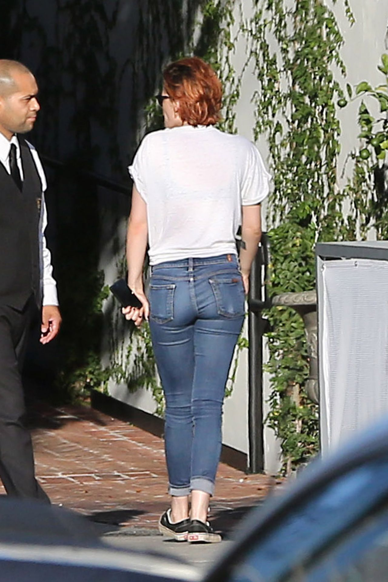 Kristen Stewart In Jeans Out In La July 2014