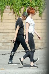 Kristen Stewart - Out in LA With a Friend - July 2014