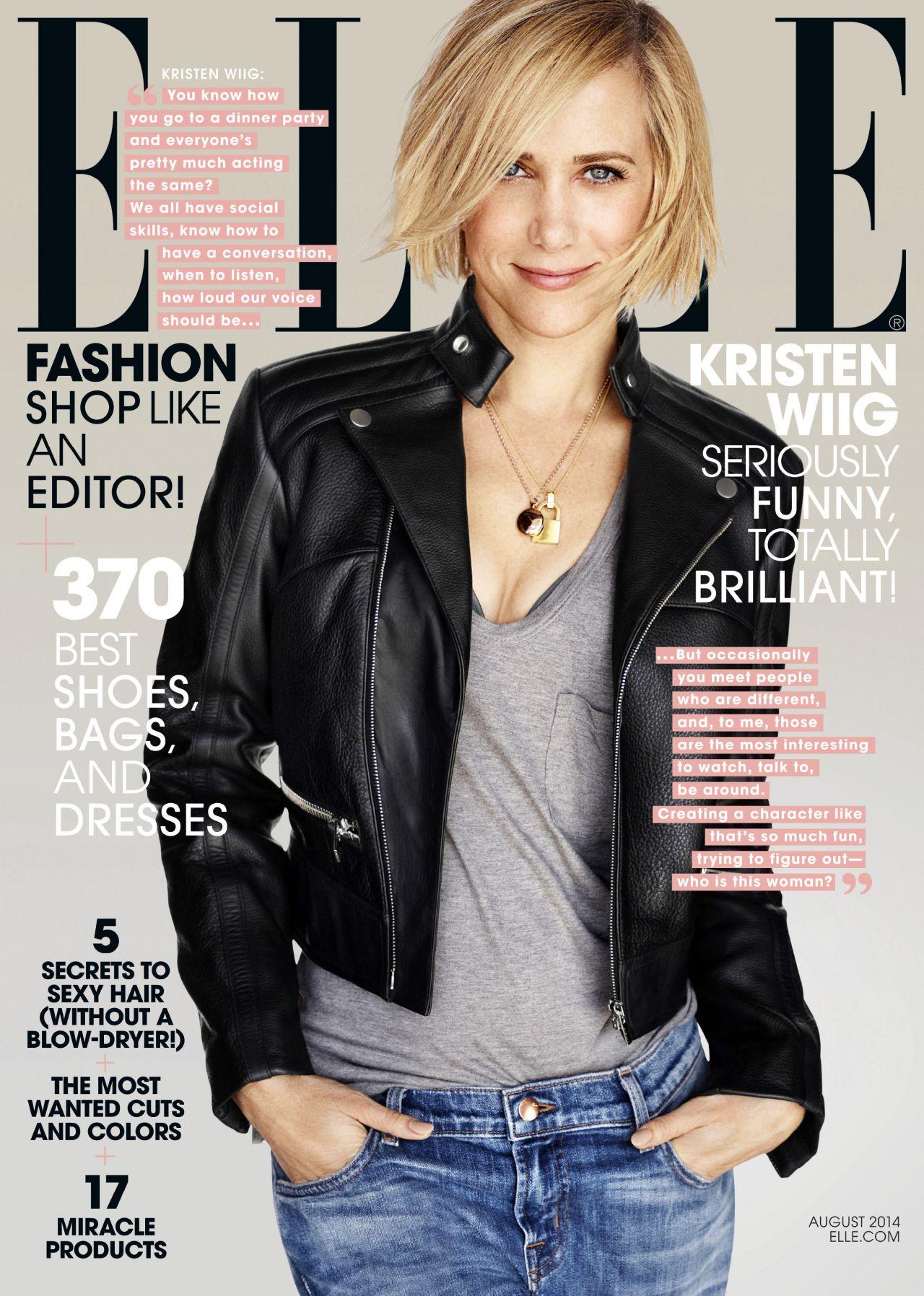 Kristen Wiig - Elle Magazine - August 2014