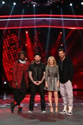 Kylie Minogue - The Voice Final Five And Their Coaches - July 2014