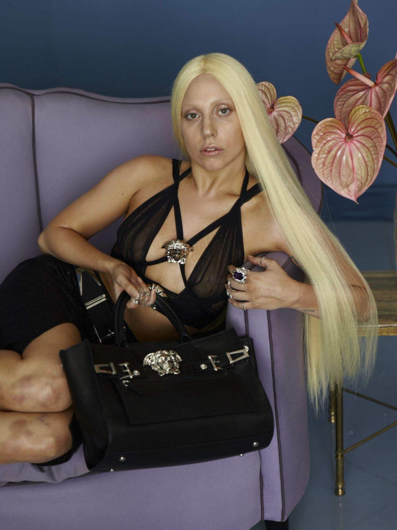 Lady Gaga - Photoshoot for VersaceFull 2014