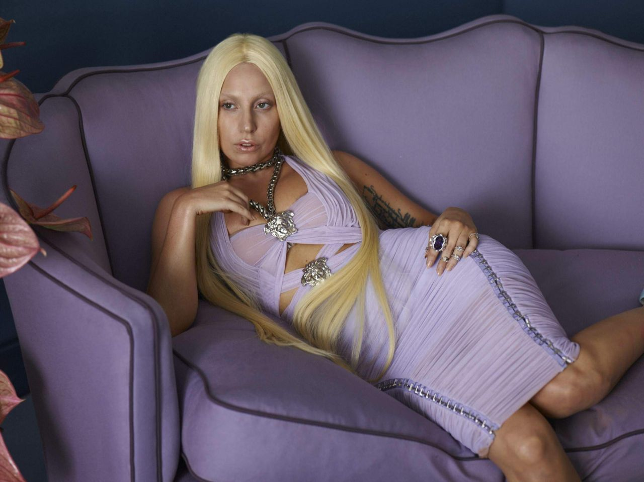 Lady Gaga Photoshoot For Versacefull 2014