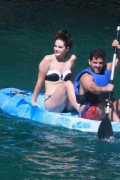 Lana Del Rey Bikini Candids - on Vacation in Italy - July 2014
