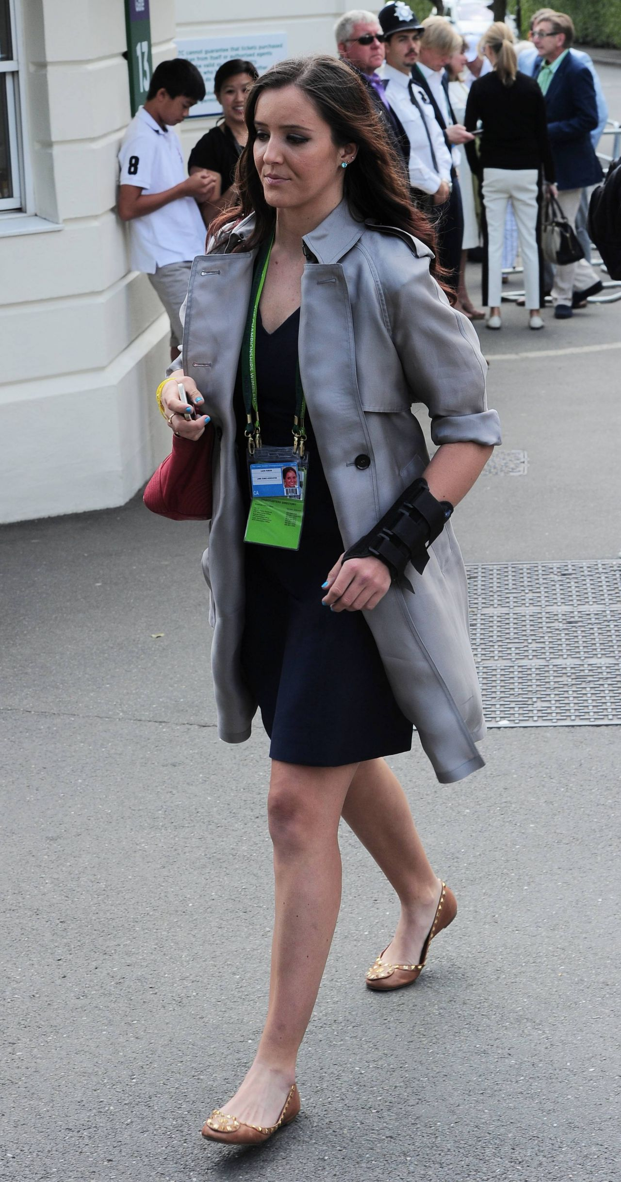 Laura Robson Arriving at Wimbledon in London - June 2014