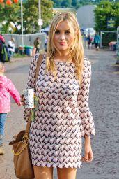 Laura Whitmore at Glastonbury Festival – England, June 2014
