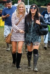 Laura Whitmore at Glastonbury Festival – England, June 2014