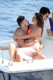 Lea Michele in a Bikini on a Boat in Italy - July 2014