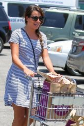 Lea Michele - Shopping at Whole Foods in Studio City, July 2014