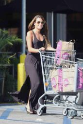 Lea Michele Street Style - Shopping at Whole Foods in Los Angeles - June 2014