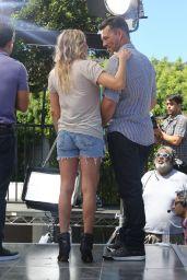 LeAnn Rimes on the Set of