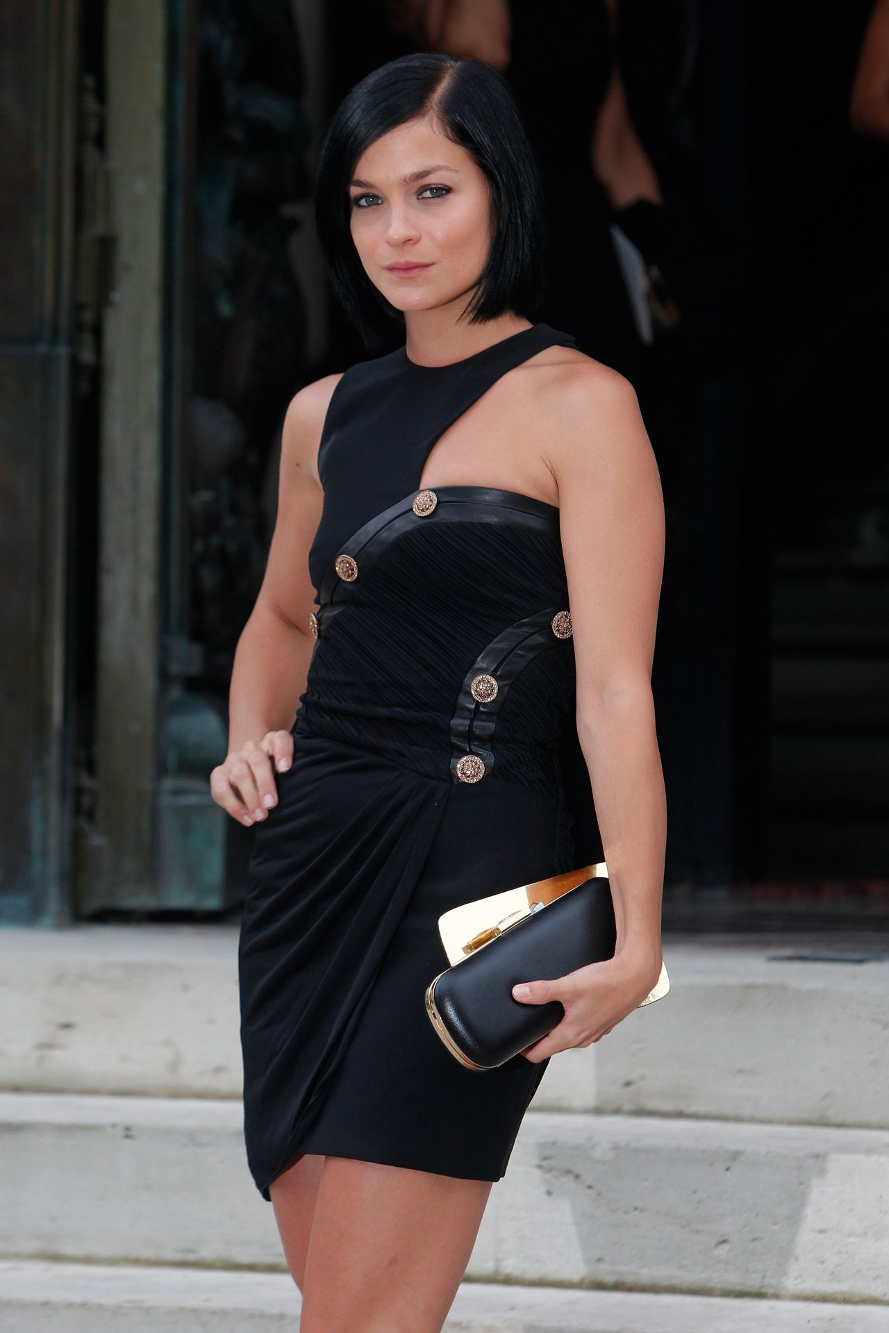 Leigh Lezark at Versace show in Paris - Fashion Week, July 2014