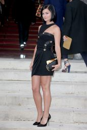 Leigh Lezark at Versace show in Paris - Fashion Week, July 2014