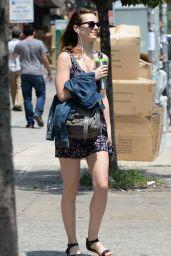 Leighton Meester Street Style - Out in New York City, July 2014