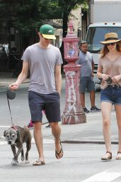 Leighton Meester Walking Her Dog in New York City - July 2014