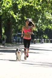 Leilani Dowding - Jogging & Playing Fetch at Battersea Park in London