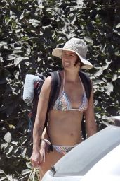 Lena Headey in a Bikini at a Beach in Ibiza - July 2014