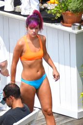 Lily Allen Bikini Candids - at a Hotel Pool in New York City, July 2014
