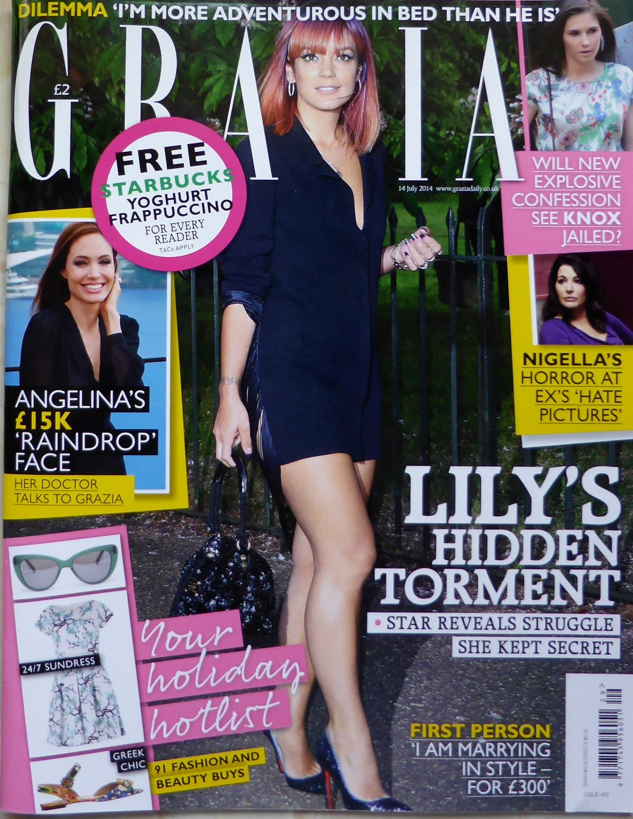 Lily Allen - Grazia Magazine Cover - July 14th 2014