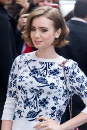 Lily Collins - Chanel Front Row - Paris Fashion Week – July 2014