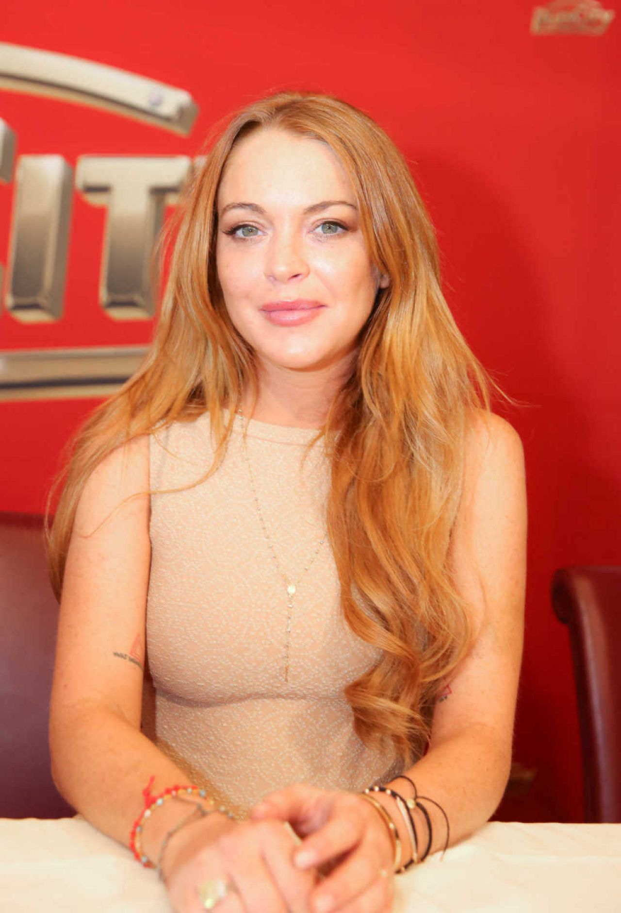 Lindsay Lohan at Weisses Fest 2014 in Linz (Austria)