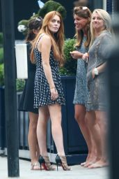 Lindsay Lohan in London at George Bar in Mayfair - July 2014