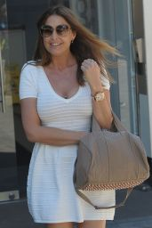 Lisa Snowdon in White Dress - Leaving Capital FM London - July 2014