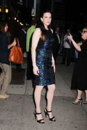 Liv Tyler - Outside the Ed Sullivan Theater After a Letterman Appearance - July 2014
