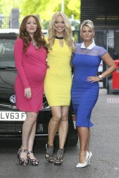 Liz McClarnon, Natasha Hamilton & Kerry Katona (Atomic Kitten) - ITV Studios in London - July 2014