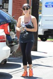 Lucy Hale Leaving the Gym in Beverly Hills - July 2014