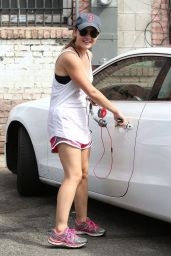 Lucy Hale Leaving the Gym in West Hollywood - July 2014
