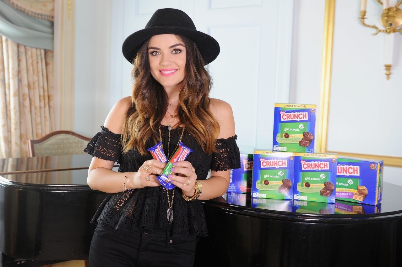 Lucy Hale - Nestle Crunch Girl Scout Candy Bars