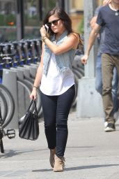 Lucy Hale Street Style - Out in New York - July 2014