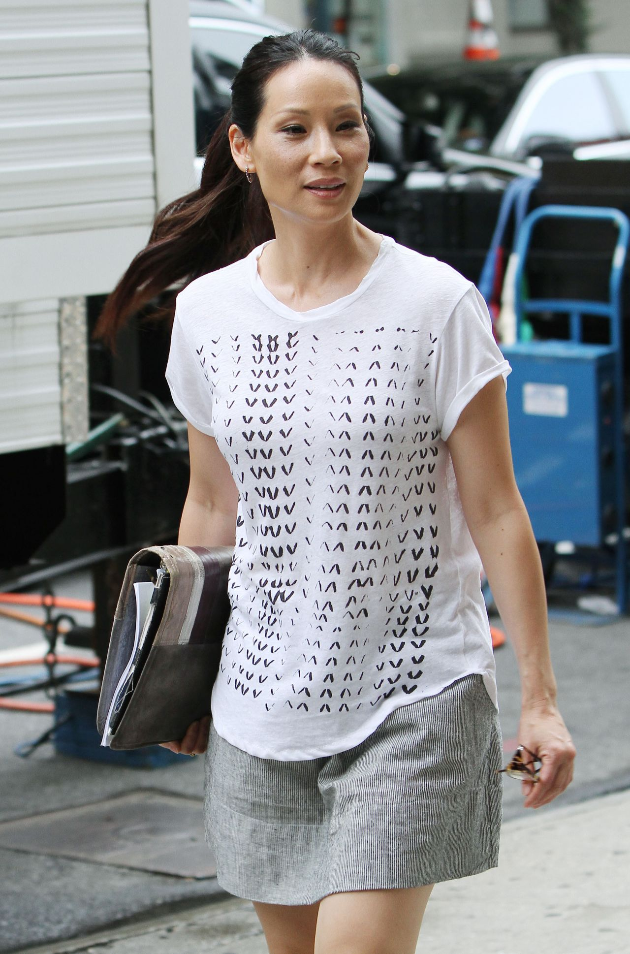 Lucy Liu Casual Style - Out in New York City - July 2014