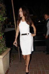 Maggie Q Night Out Style - Madeo Restaurant in Los Angeles, July 2014