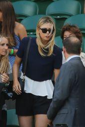 Maria Sharapova Watching Her Boyfriend Grigor Dimitrov in His Semi-final Match -Wimbledon 2014