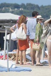 Melissa George in a Bikini at a Beach in St Tropez - July 2014