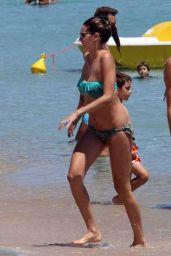 Melissa Satta Bikini Candids - Porto Cervo (Italy) 2014