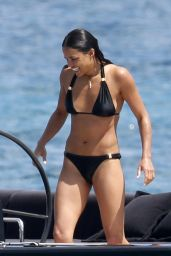 Michelle Rodriguez Bikini Candids - on the Boat in Sardinia - June 2014