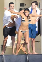 Michelle Rodriguez - wearing a bikini on a yacht in Ibiza 07/30/14 MQ/HQ