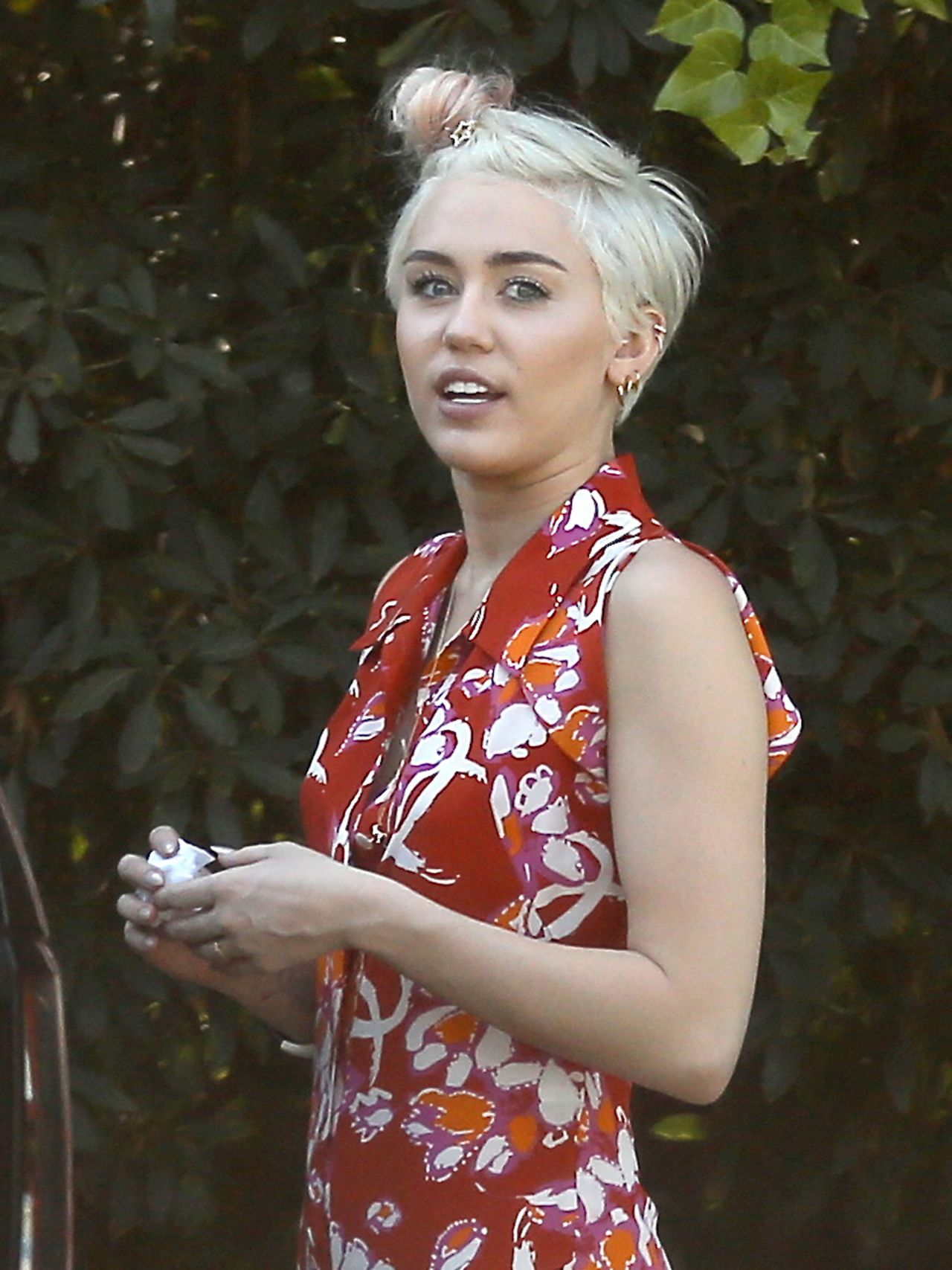 miley cyrus - out shopping in studio city