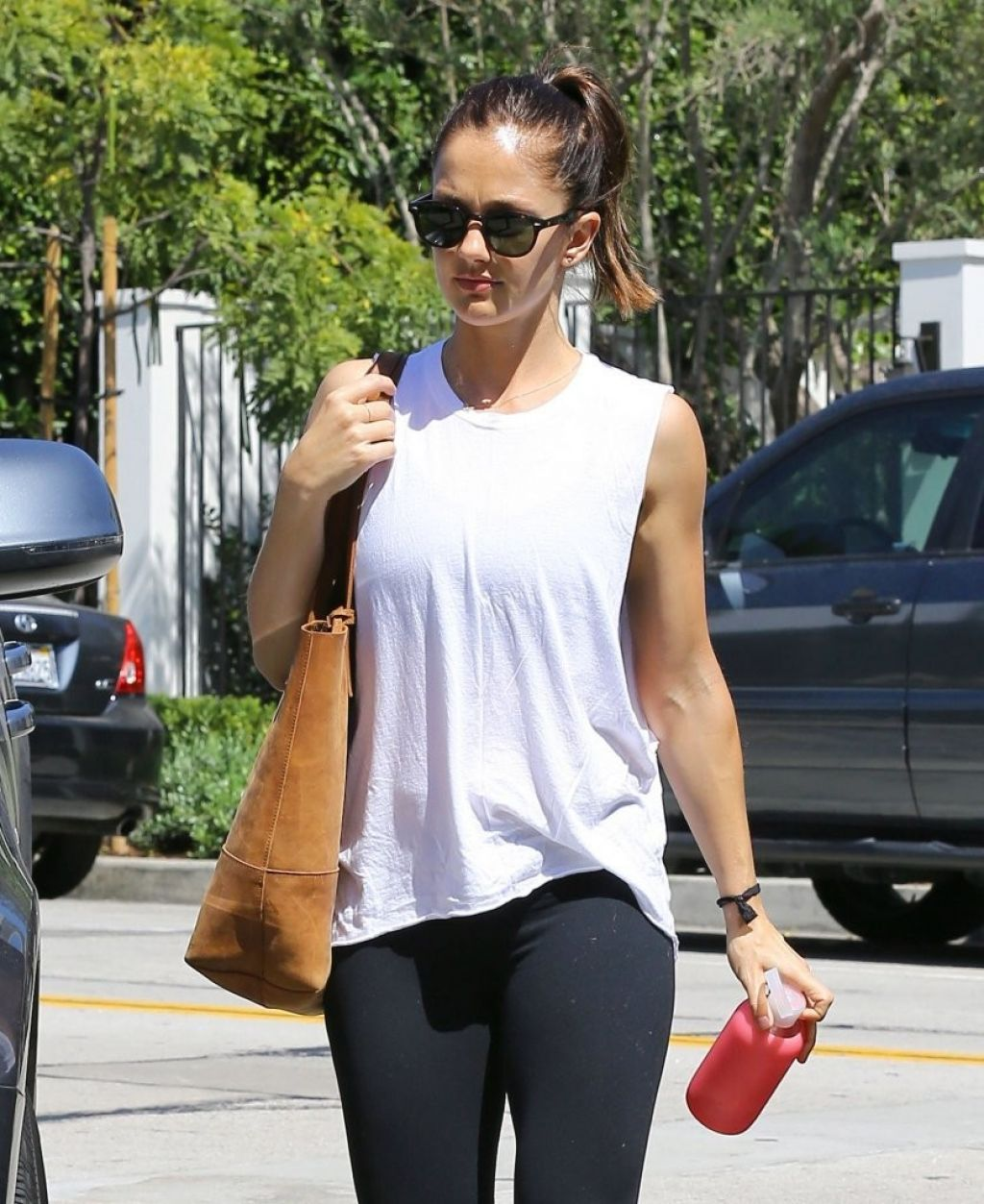 Minka Kelly Gym Style - Out in Los Angeles, July 2014