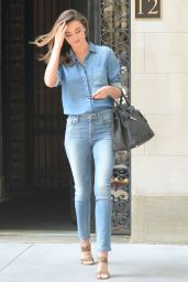 Miranda Kerr in Jeans - Out in New York City, July 2014